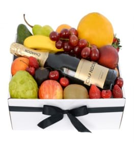 Deluxe Fruit Box With Chandon